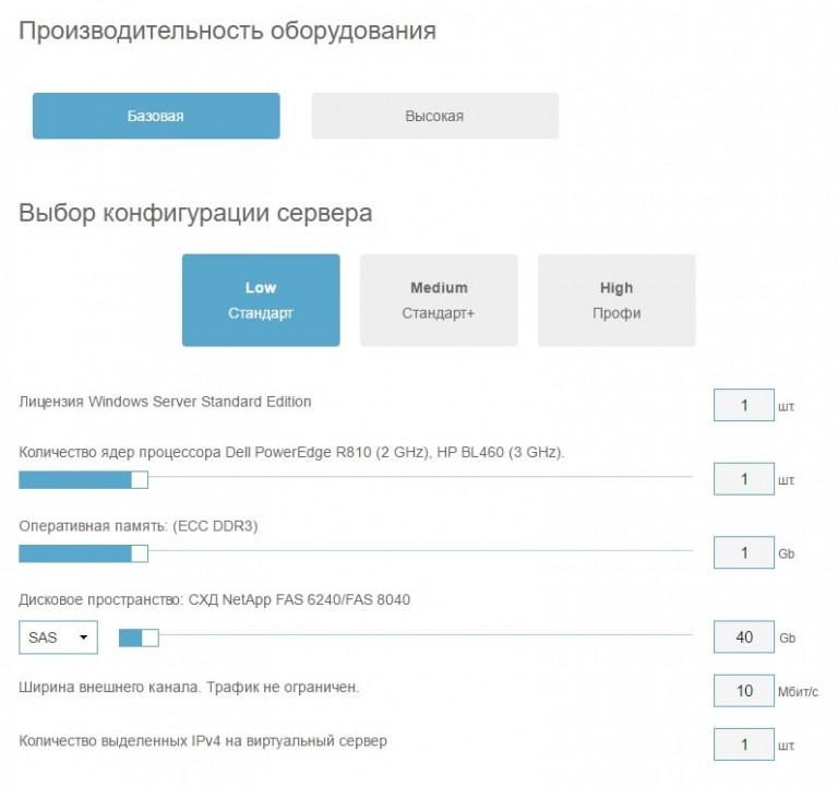 настройка конфигурации виртуального сервера